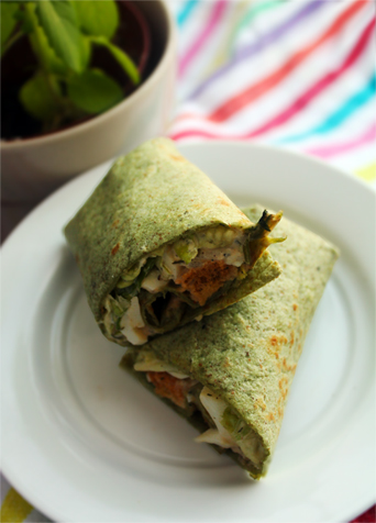 egg spinach roll