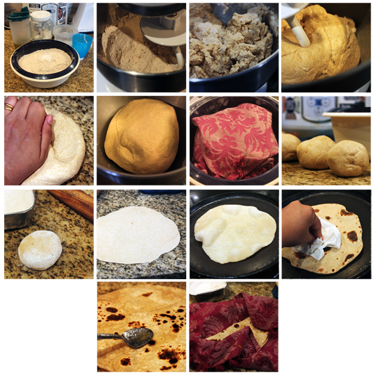 The Process of Making Soft Roti